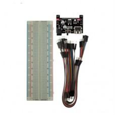 KIT: Breadboard + Power Supply + 60 jumper wirers